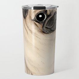 Sweet Fawn Pug Travel Mug