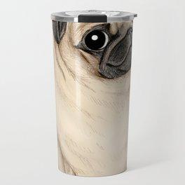 Sweet Fawn Pug Travel Mug