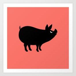 Angry Animals: Piggy Art Print