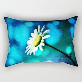 Azurite Malachite Daisy Rectangular Pillow