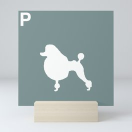 Poodle Blue | Dogs Mini Art Print