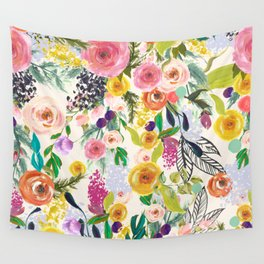 Autumn Blooms V2 Wall Tapestry