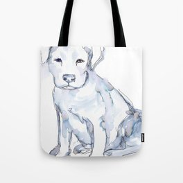 Pit Bull Puppy (for Kerry), watercolor Tote Bag