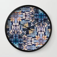community Wall Clocks featuring Community of Cubicles by Phil Perkins