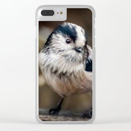 Fluffy The Long-Tailed Tit Clear iPhone Case