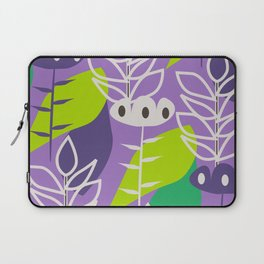 Floral style in purple Laptop Sleeve