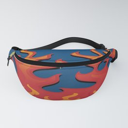 Classic Hot Rod Fire Flames Fanny Pack