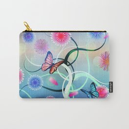 Dahlias and Vines Carry-All Pouch