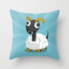 The Dino-zoo: Sheep-saurus Throw Pillow