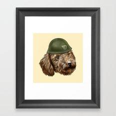 Toy Poodle Soldier Framed Art Print