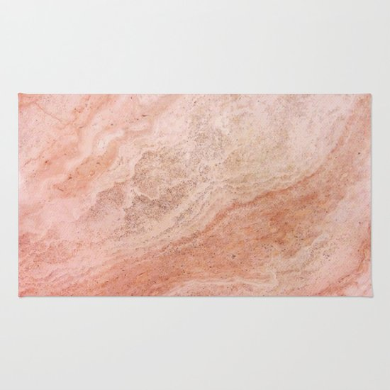 Polished Rose Gold Marble Rug By Pixel404 Society6