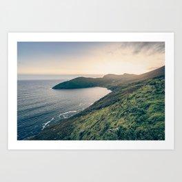 Keem Bay Sunset - nature photography Art Print