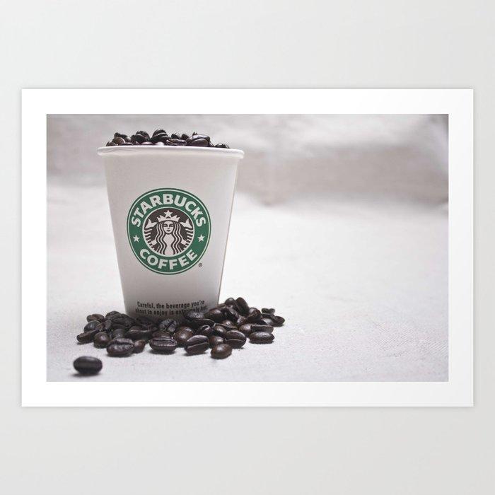 Starbucks Coffee Beans Art Print By Kathrynslusarski