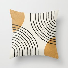 Sun Arch Double - Gold Throw Pillow