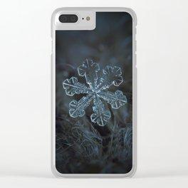 Vega (real snowflake macro photo) Clear iPhone Case