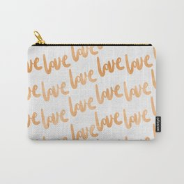 Love Gold Copper Bronze Pattern Carry-All Pouch