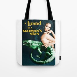 A Lizard in a Woman's skin, vintage horror movie poster Tote Bag