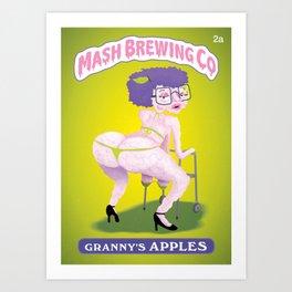 Granny's Apples Art Print