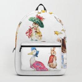 Tales of Peter Rabbit  characters Beatrix Potter 2 farm animals Backpack