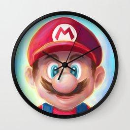 Mario Portrait Wall Clock