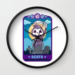 Death - Cute Kawaii Anime Reaper Tarot Card Shirt Wall Clock
