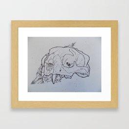 Lion Skull Framed Art Print