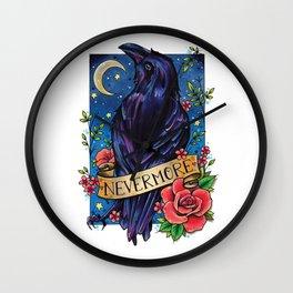 Nevermore Raven Wall Clock