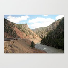 Cross Country American Landscapes - Trains, Rivers, Mountains, and Clouds Canvas Print