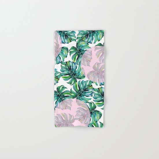 Monstera Pattern V1 #society6 #decor #buyart Hand & Bath Towel