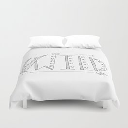 Wild Print With Feathers Duvet Cover