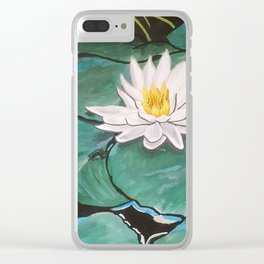 Lily of the Water Clear iPhone Case