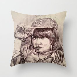 QUEEN CHEBA Throw Pillow