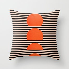 Abstraction_SUNSET_LINE_ART_Minimalism_001 Throw Pillow