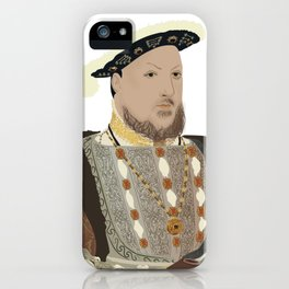 Henry VIII of England - transparent background iPhone Case