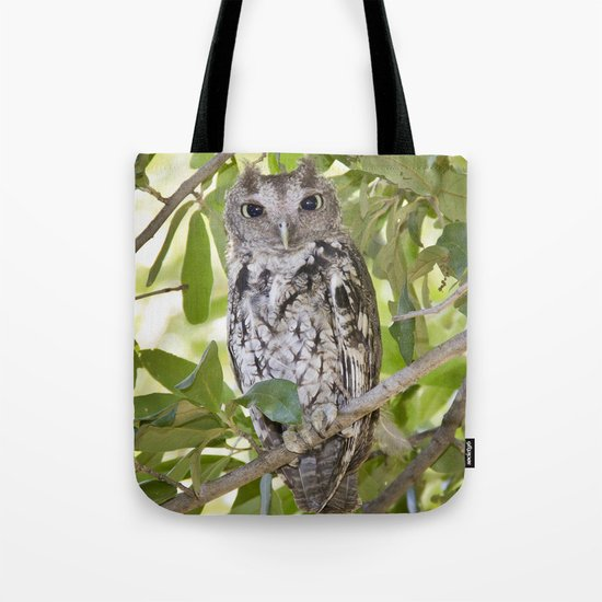 Screech Owl Tote Bag