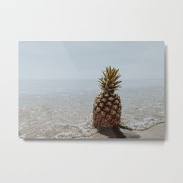 pineapple at the beach ii Metal Print