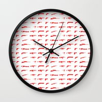 guns Wall Clocks featuring Guns by Abdelati Dinar