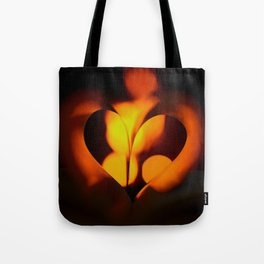 Beautiful Evening in Autumn - Heart Shape with Bokeh Light #decor #society6 #buyart Tote Bag