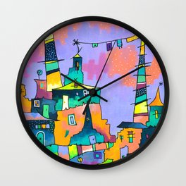 Ladders in the Sky Wall Clock