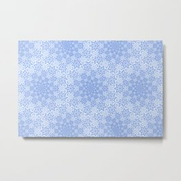 Star Vortex - Color: Cerulean Sky Metal Print