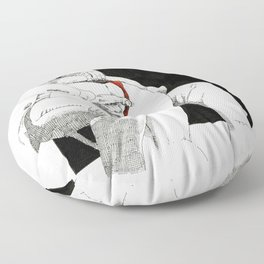 Nudegrafia - 004 fingering Floor Pillow