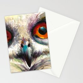 OWL EYE Watercolor Stationery Cards