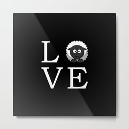 Sheep Love Metal Print