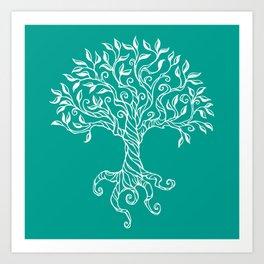 Tree of Life Teal Art Print
