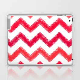 Red Chalk Chevron Laptop & iPad Skin
