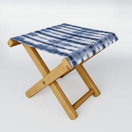 Tiki Shibori Blue Folding Stool