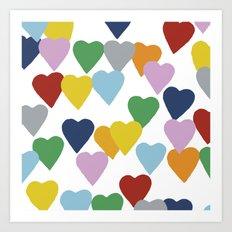 Hearts #2 Art Print