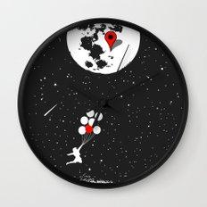 Destination Moon Wall Clock