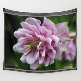 Double Columbine named Pink Tower Wall Tapestry