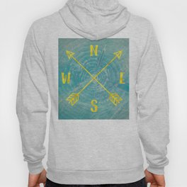 Compass Tree Teal and Gold Hoody